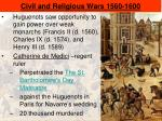 civil and religious wars 1560 1600