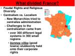 what divided france2