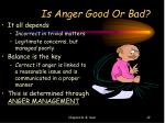 is anger good or bad