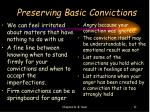 preserving basic convictions