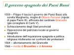 il governo spagnolo dei paesi bassi