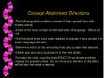 concept attainment directions