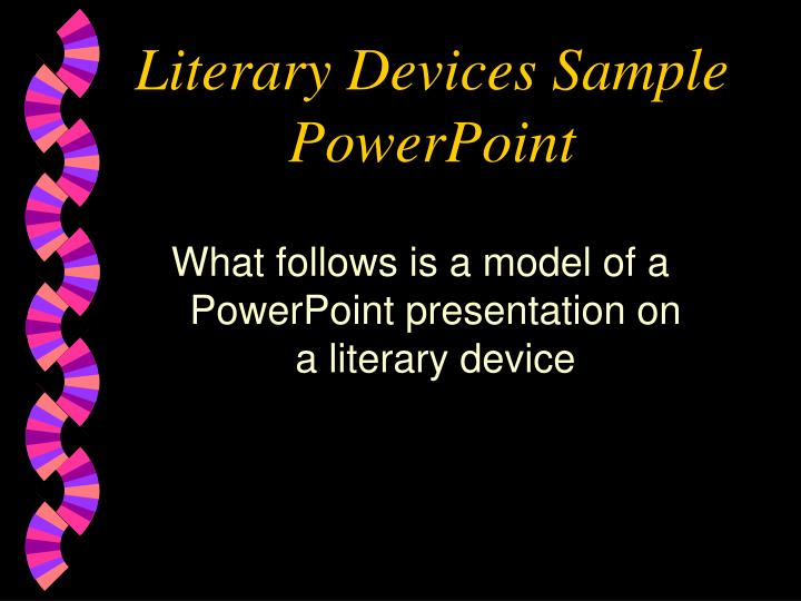 literary devices sample powerpoint n.