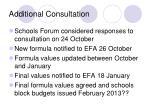 additional consultation