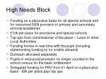 high needs block