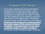 purpose of ot survey1