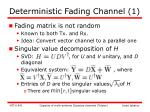 deterministic fading channel 1