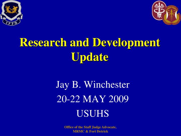 research and development update n.