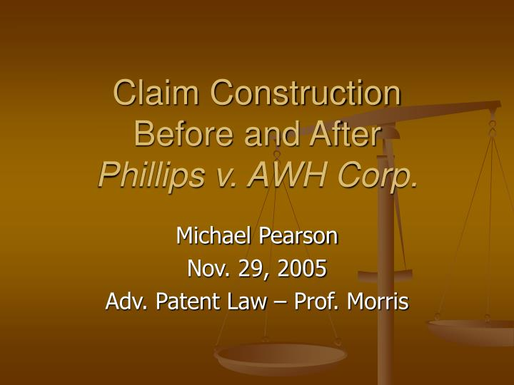 claim construction before and after phillips v awh corp n.