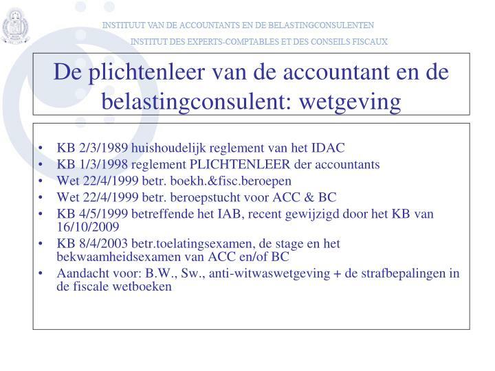KB 2/3/1989 huishoudelijk reglement van het IDAC