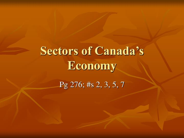sectors of canada s economy n.