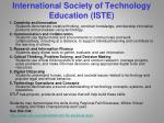 international society of technology education iste