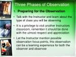 three phases of observation