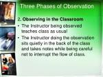three phases of observation1