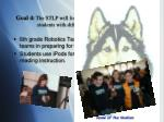 goal 4 the stlp will form learning partnerships between students with different technology skills