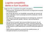 logiche competitive dentro e fuori la politica