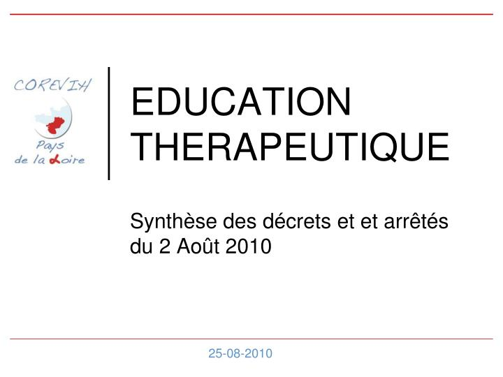 education therapeutique n.