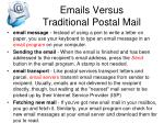 emails versus traditional postal mail