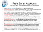 free email accounts http email about com od freeemailreviews tp free email htm