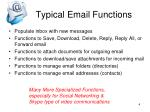 typical email functions