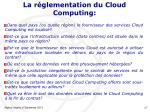 la r glementation du cloud computing1