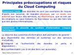 principales pr occupations et risques du cloud computing