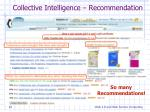 collective intelligence recommendation