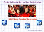 contents production by user participation