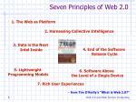 seven principles of web 2 0