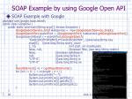 soap example by using google open api
