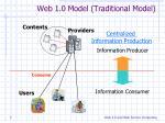 web 1 0 model traditional model