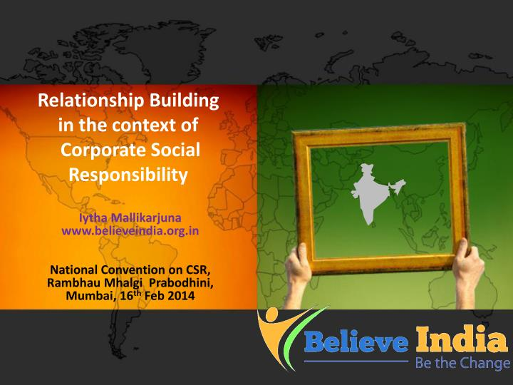 relationship building in the context of corporate social responsibility n.