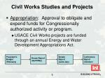 civil works studies and projects