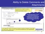 ability to delete comments and attachments