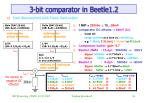 3 bit comparator in beetle1 2