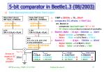 5 bit comparator in beetle1 3 08 2003