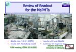 review of readout for the mapmts