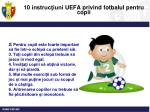 10 instruc iuni uefa privind fotbalul pentru copii1
