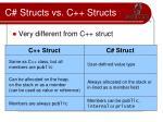 c structs vs c structs