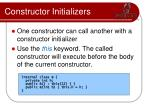 constructor initializers