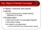 key object oriented concepts