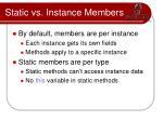 static vs instance members