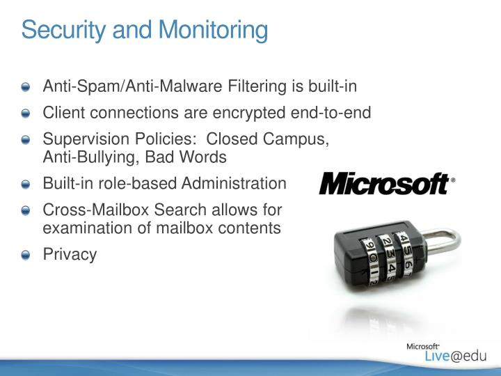 Security and Monitoring