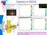 cosmics in rich1