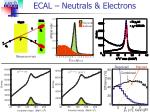 ecal neutrals electrons