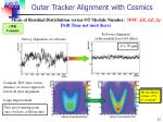 outer tracker alignment with cosmics