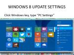 windows 8 update settings