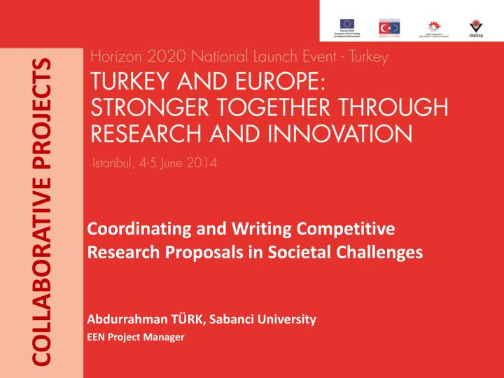 coordinating and writing competitive research proposals in societal challenges n.