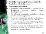 statistika blagostanja ivotnog standarda nejednakost dohotka i potro nje