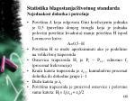statistika blagostanja ivotnog standarda nejednakost dohotka i potro nje16